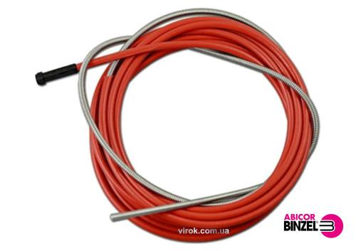 Спіраль подаюча червона ABICOR BINZEL : 2.0 x 4.5 x 340 мм, для дроту 1.0 - 1.2 мм