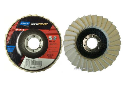 Круг пелюстковий фетровий NORTON для полірування 115 х 22.2 мм