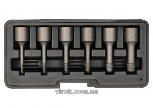 Видалювачі зломаних гвинтів YATO Ø= 2; 3; 4; 6; 8; 10 мм, 6 шт. [50]