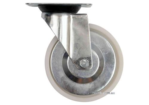 Колесо до візка поліамідове Ø= 125 мм, b= 33 мм VOREL з обертовою опорою; h= 155 мм, навант.- 100 кг
