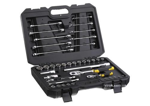 """Набір головок торцевих і ключів STANLEY 1/4"""" і 1/2"""" з інструментами в футлярі 41 шт"""