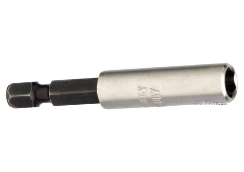 """Тримач магнітний насадок викруткових USH : 1/4"""",L=58 мм,зовніш. Ø=9.6мм,з кільцем, Уп. 1 шт.,блістер"""