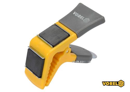Тримач для пензля магнітний VOREL 90 мм пластикова ручка пружинний затиск
