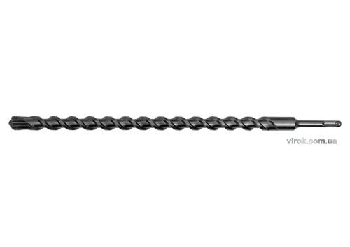 Свердло по залізобетону SDS Plus Premium Х-тип YATO 22 х 460 мм з 4 різальними пругами