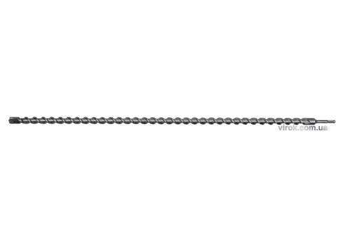 Свердло по залізобетону SDS Plus Premium Х-тип YATO 25 х 1000 мм з 4 різальними пругами