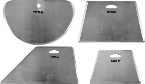 Скребки столярні з нержавіючої сталі YATO, 205х98 мм, 160х100 мм, 120х80 мм, 100х160 мм, 4 шт.