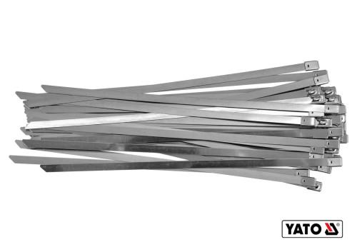 Хомут затискний з нержавіючої сталі YATO 8 х 400 мм 50 шт