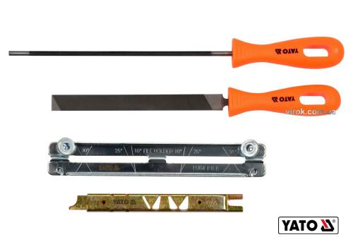 Набір для гостріння ланцюгів з напильником YATO Ø4.8 мм 4 шт
