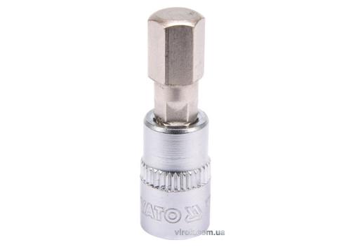 """Головка торцева з насадкою викрутковою HEX YATO 1/4"""" H8 x 37 мм"""