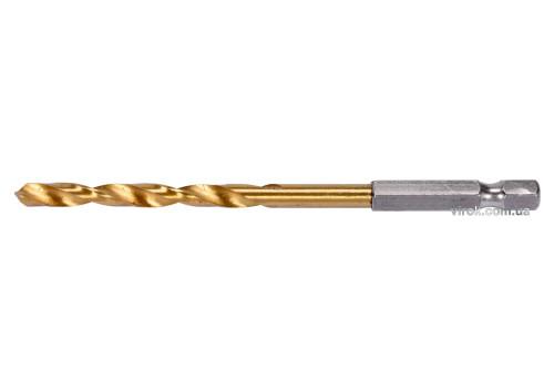 """Свердло по металу YATO : HSS, титанове покриття, 6-гран. хвостовик-1/4"""", Ø= 5 мм, l= 106 мм"""