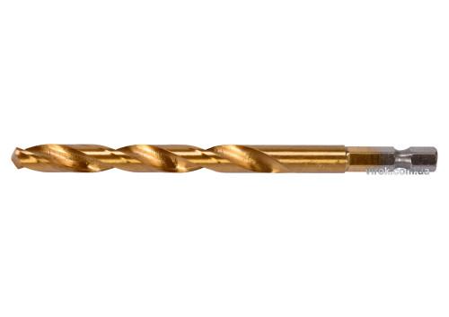 "Свердло по металу з шестигранним хвостовиком 1/4"" YATO HSS-TiN 8 х 117 мм"
