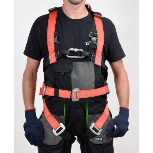 Шлейки безпеки з лямками і стегновим пасом YATO для висотних робіт, поліестерові