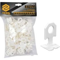 Кліпси для викладання керамічної плитки VOREL : шов- 1 мм, 100 шт.
