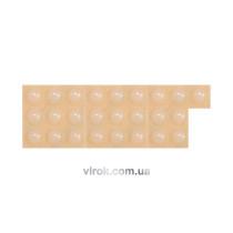 Прокладка силіконова самоклеюча під меблі VOREL,  8мм, набір 25шт [32/576]