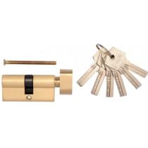 Серцевина замка латунна VOREL 62 мм 31/31 мм 6 ключів