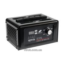 Пуско-зарядний пристрій YATO до акумул-в 12\24В, ємн. 50-600 Агод;V= 230 В,10/30А(12В),7,5/15 А(24В)