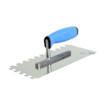Терка з нержавіючої сталі ТМ VIROK PROFI 270 x 130 мм зуб 4 x 4 мм двокомпонентна ручка