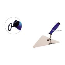 Кельма муляра трикутна з нержавійки PROFI , двокомпонентна ручка, 200 мм , ТМ VIROK