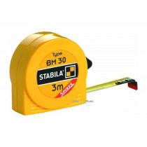 Рулетка STABILA з сталевою стрічкою з метричною шкалою BM 30; l= 3 м, W= 13 мм в пластмасов. корпусі