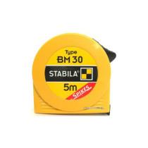 Рулетка STABILA з сталевою стрічкою з метричною шкалою BM 30; l= 5 м, W= 19 мм в пластмасов. корпусі