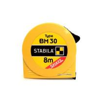 Рулетка STABILA з сталевою стрічкою з метричною шкалою BM 30; l= 8 м, W= 25 мм в пластмасов. корпусі