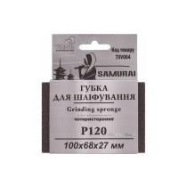 """Губка для шліфування 4-стороння SAMURAY ТМ """"VIROK"""";  Р120, 100х68х27 мм"""