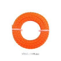Жилка для тримера VOREL квадратна 2.4 мм х 15 м