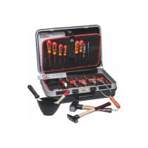 Ящик пластиковий з інструментами NWS; 470x 360x 180 мм, 23 елементи