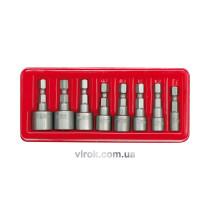"""Насадки викруткові (біти) VOREL торцеві з квадр.1/4"""" 5-13 мм Набір 8 шт."""
