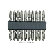 Насадка викруткова двостороння VOREL хрестова PH2 х 60 мм 10 шт