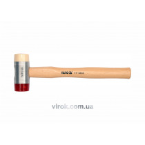 Молоток бляхарський YATO поліурет/нейлон. Ø= 22 мм з гікоров. ручкою, m=156 г [6/48]