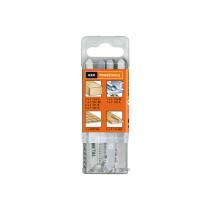 Набір полотен по дереву, ламінату, металу, до електролобзиків AEG : 12 шт
