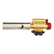 Пальник газовий з п'єзозапалом і керамічним соплом 360° VIROK з цанговим з'єднанням