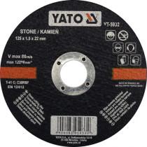 Диск відрізний по каменю YATO 125 х 22 х 1.5 мм