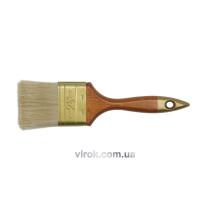 Пензель флейцевий VOREL ПРОФІ з дерев'яною ручкою 102 мм
