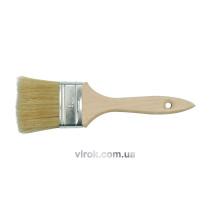 Пензель плоский VOREL з дерев'яною ручкою, b= 76 мм [50]