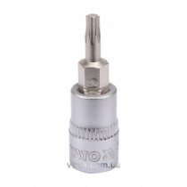 """Головка торцева з насадкою викрутковою TORX YATO 1/4"""" Т15 х 37 мм"""