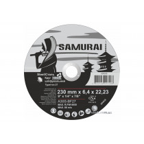 """Круг шліфувальний по металу A30S-BF27  SAMURAY ТМ """"VIROK""""; Ø= 230 х 22.23 мм, t= 6.4 мм"""