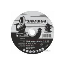 """Круг шліфувальний по металу A30S-BF27  SAMURAY ТМ """"VIROK""""; Ø= 180 х 22.23 мм, t= 6.4 мм"""