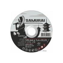 """Диск відрізний по металу та нержавіючій сталі SAMURAY ТМ """"VIROK""""; Ø= 125 х 22.23 мм t=1.6 мм"""
