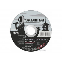 """Диск відрізний по металу та нержавіючій сталі SAMURAY ТМ """"VIROK"""" Ø= 125 х 22.23 мм t=1.2 мм"""