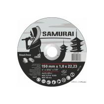 """Диск відрізний по металу та нержавіючій сталі SAMURAY ТМ """"VIROK""""; Ø= 150 х 22.23 мм t=1.0 мм"""