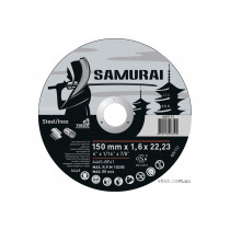 """Диск відрізний по металу та нержавіючій сталі SAMURAY ТМ """"VIROK""""; Ø= 150 х 22.23 мм t=1.6 мм"""