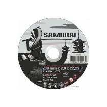"""Диск відрізний по металу та нержавіючій сталі SAMURAY ТМ """"VIROK""""; Ø= 230 х 22.23 мм, t= 2 мм"""