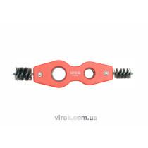 Щітка для внутрішньої і зовнішньої очистки труб 2-стор. Ø= 15; 22 мм [50/100]