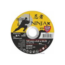 """Круг шліфувальний по металу NINJA ТМ """"VIROK"""" тип 27 Ø=125х22.23 мм t=6 мм"""