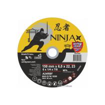 """Круг шліфувальний по металу NINJA ТМ """"VIROK"""" тип 27 Ø=150х22.23 мм t=6 мм"""