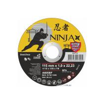 """Диск відрізний по металу та нержавіючій сталі NINJA ТМ """"VIROK"""" Ø=115х22.23 мм t=1 мм"""