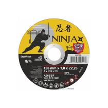 """Диск відрізний по металу та нержавіючій сталі NINJA ТМ """"VIROK"""" Ø=125х22.23 мм t=1 мм"""