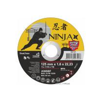 """Диск відрізний по металу та нержавіючій сталі NINJA ТМ """"VIROK"""" Ø=125х22.23 мм t=1.6 мм"""